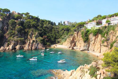 Yachten in Bucht auf Mallorca