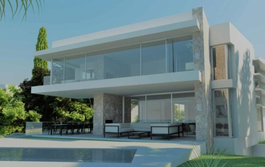 Designer Villa in 1. Meereslinie in Port Adriano, El Toro - Port Adriano