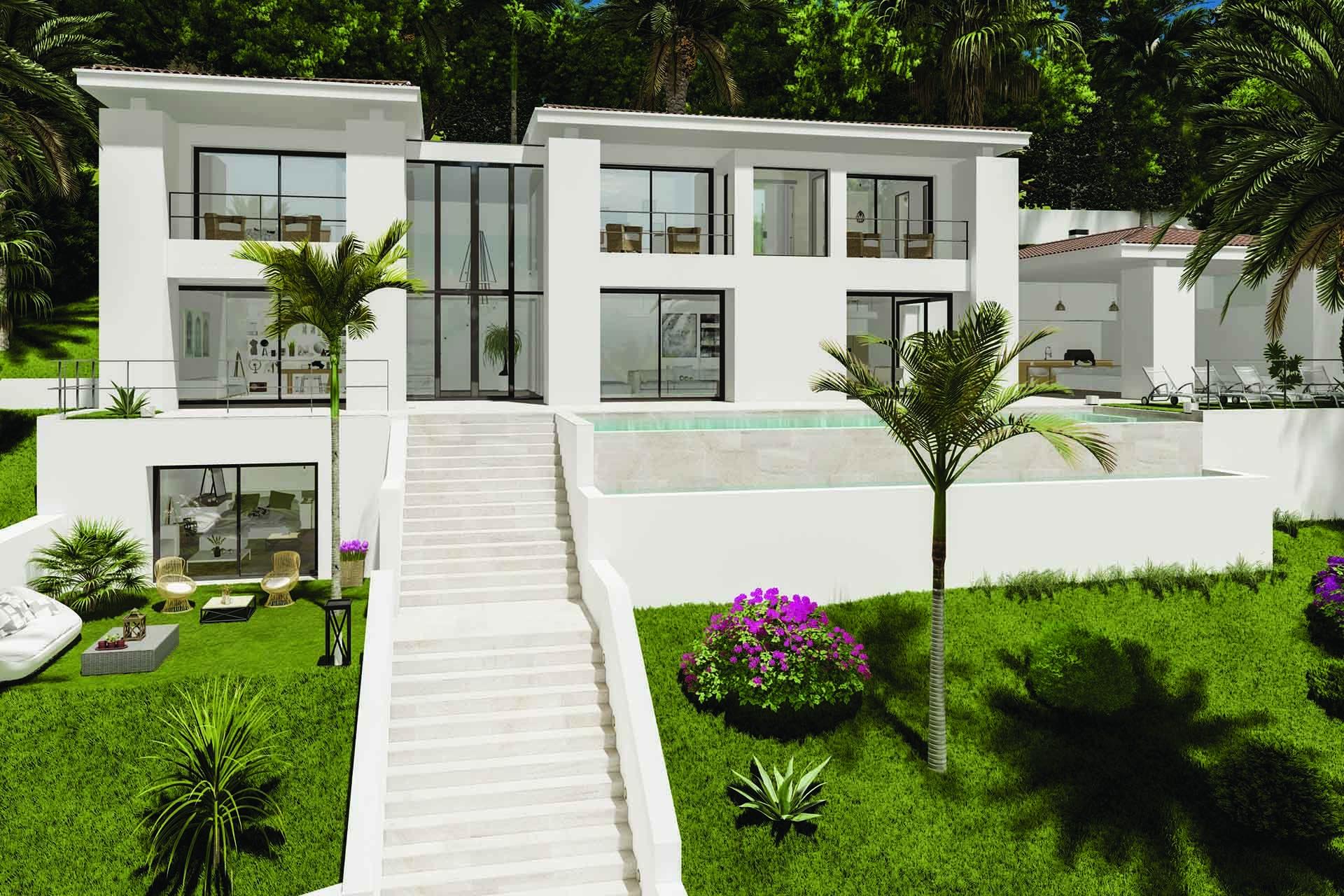 Prestigious new built villa with sea views in Costa d'en Blanes